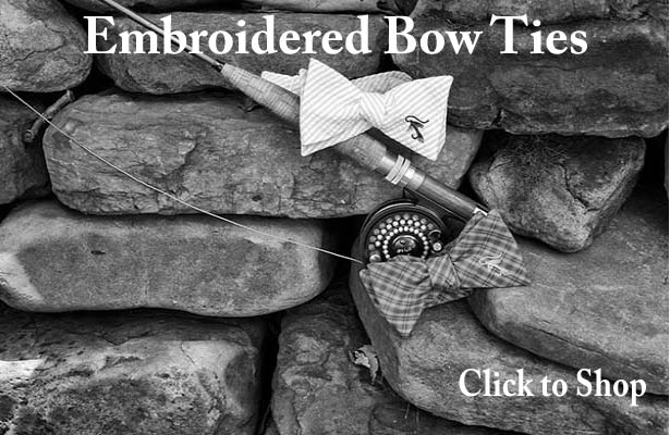 Embroidered Bow Ties - Carolina Cotton Ties