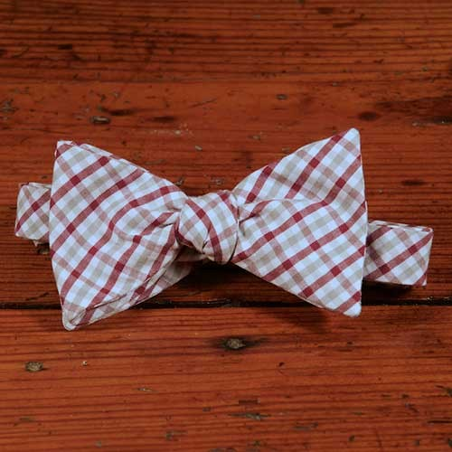 Mississippi State Tattersall Bow Tie