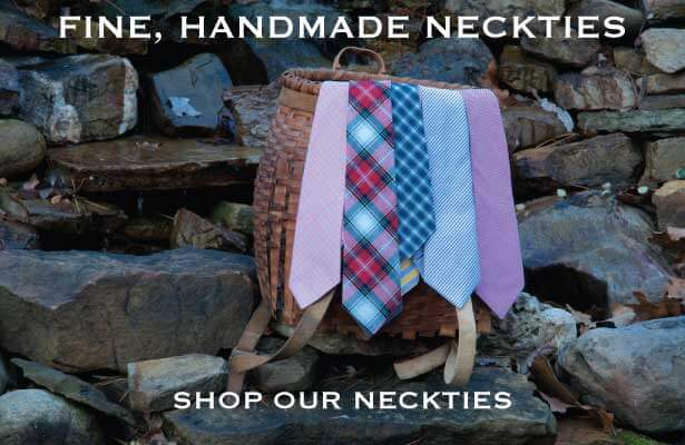 Hande made ncotton neckties and bow ties